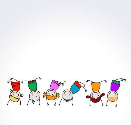 gelukkig kinderen spelen