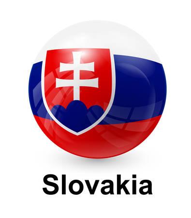 slovakia flag: slovakia state flag Illustration