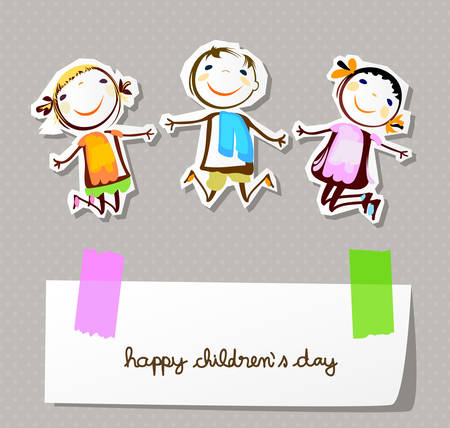 child smiling: happy childrens day