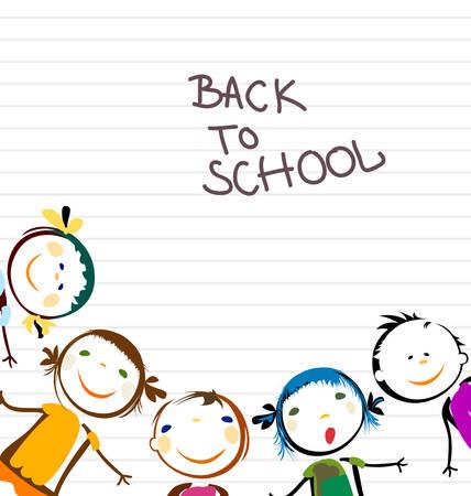 happy kids back to school Illustration