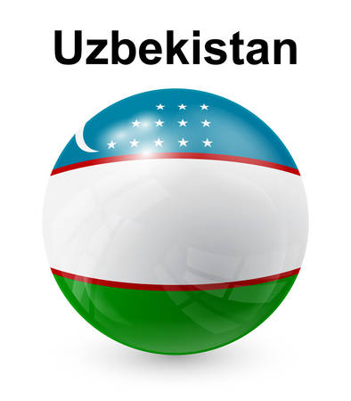 uzbekistan: uzbekistan official state flag Illustration