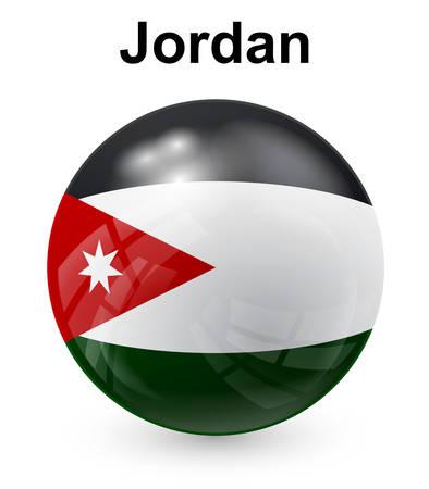 jordanian: jordan officiële vlaggenstaat Stock Illustratie