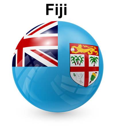 fiji: Fiji officiële vlaggenstaat Stock Illustratie
