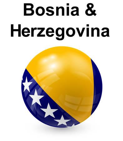 herzegovina: bosnia and herzegovina official state flag
