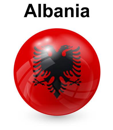 albania: albania official state flag Illustration