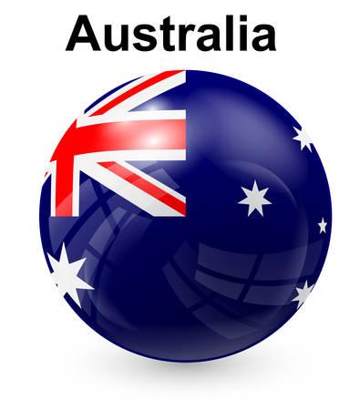bandera blanca: australia bandera oficial del estado Vectores