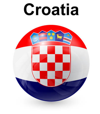 croatia flag: croatia official state flag Illustration