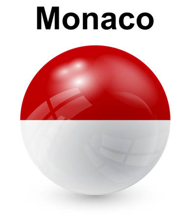 monaco: monaco official state flag