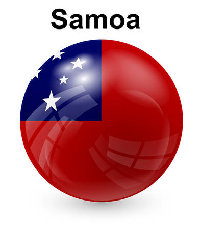 samoa: samoa official state flag