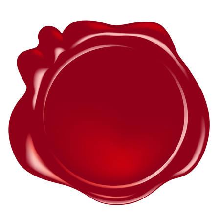 vector wax seal Illustration