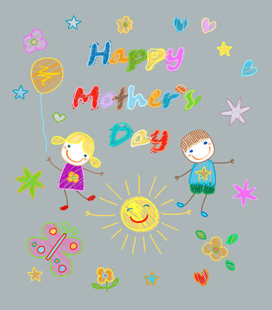 mothers day card: happy mother`s day card Illustration