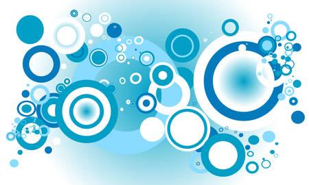 retro circles: blue retro circles