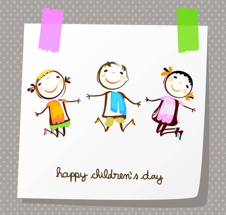 happy childrens day Zdjęcie Seryjne - 40400635