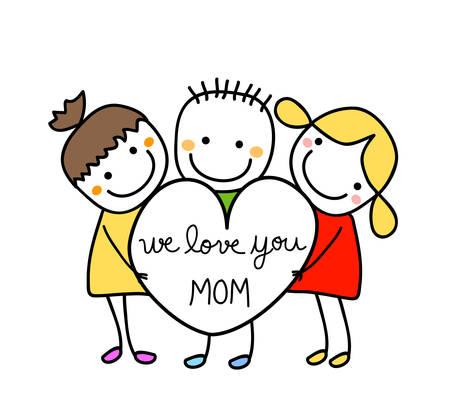 gelukkige moederdag Stock Illustratie