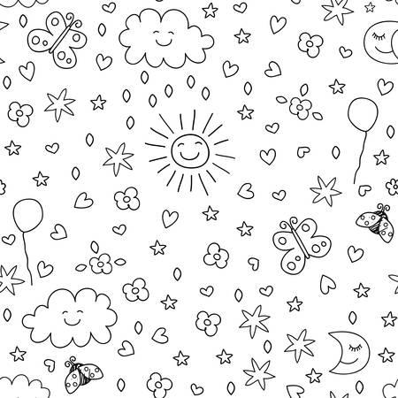 seamless pattern for kids Illustration