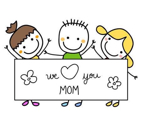 niños felices: día de las madres feliz