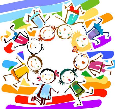 Des enfants heureux  Banque d'images - 40864890