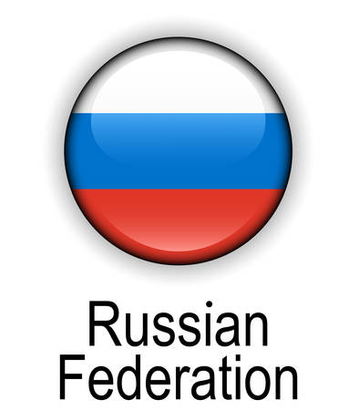 federation: russian federation official state flag Illustration