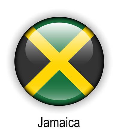 jamaica: jamaica official state button ball flag