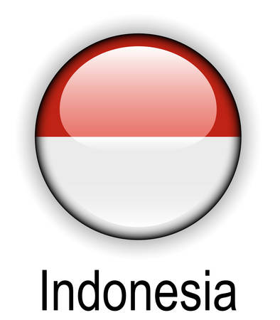 official: indonesia official state flag Illustration