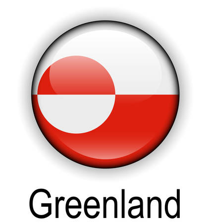 greenland: greenland official flag, button ball Illustration