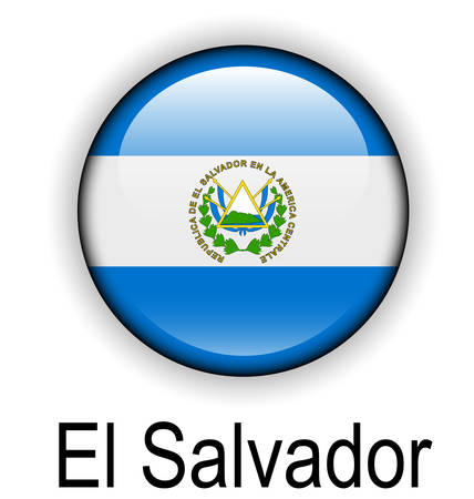 el salvador: el salvador official flag, button ball