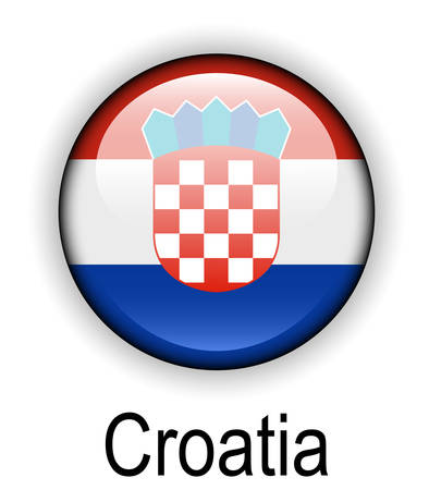 croatia: croatia official state flag Illustration