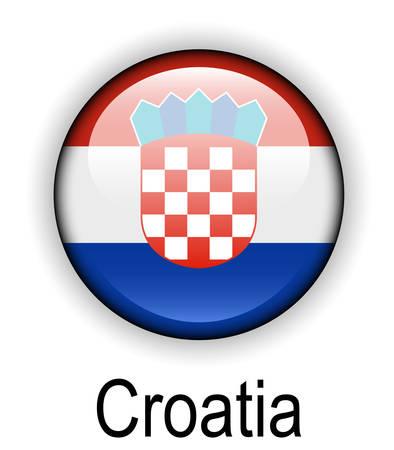 croatia: croatia official state flag Illustration