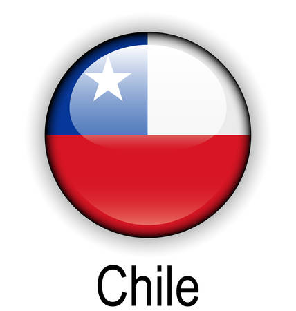 chile flag: chile official flag, button ball Illustration