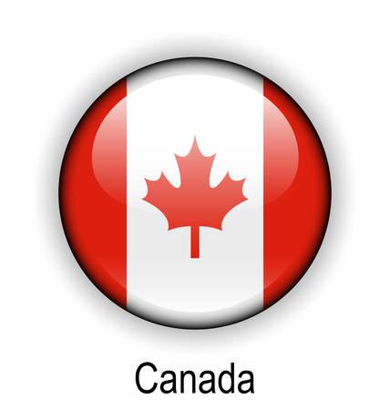 official: canada official flag, button ball