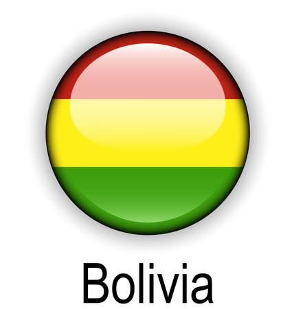 bolivia official flag, button ball