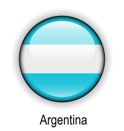 official: argentina official flag, button ball
