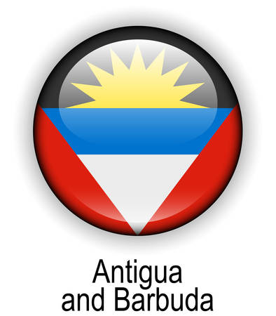 antigua: antigua and barbuda official state button ball flag