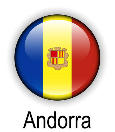 andorra: andorra official state flag Illustration