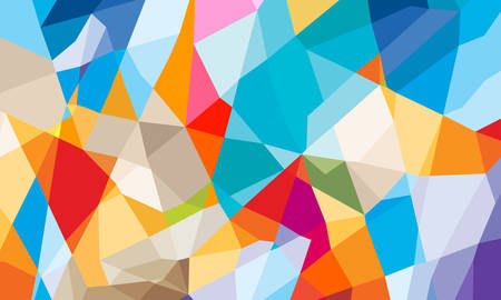 colorful geometric abstract background Illustration