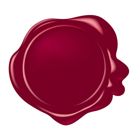 vector wax seal Иллюстрация