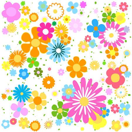 background flowers: flowers background Illustration