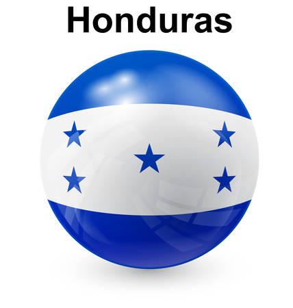 honduras: honduras official flag, button ball