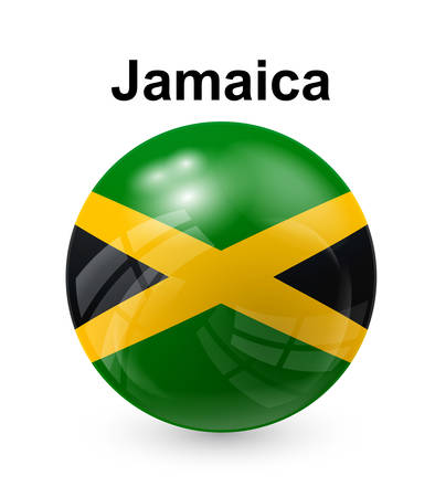 official symbol: jamaica official state button ball flag