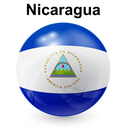 nicaragua official flag, button ball
