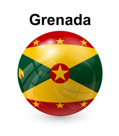 grenada official state button ball flag