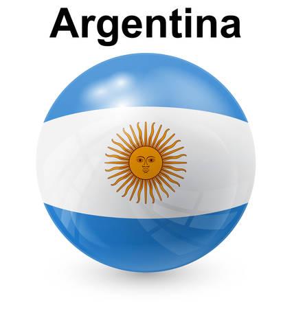 argentina official flag, button ball