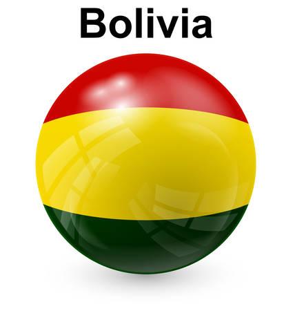 bolivia: bolivia official flag, button ball