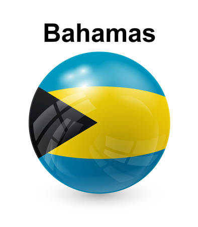 bahamas official state button ball flag