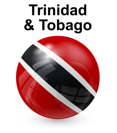 trinidad and tobago: trinidad and tobago official state button ball flag Illustration