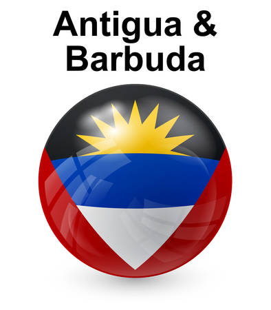 antigua and barbuda official state button ball flag