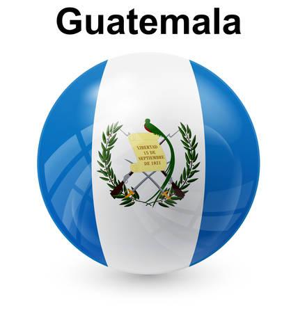 guatemala official flag, button ball