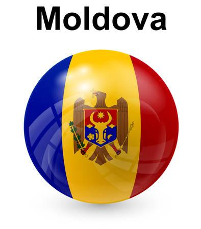 moldova official state flag Illustration