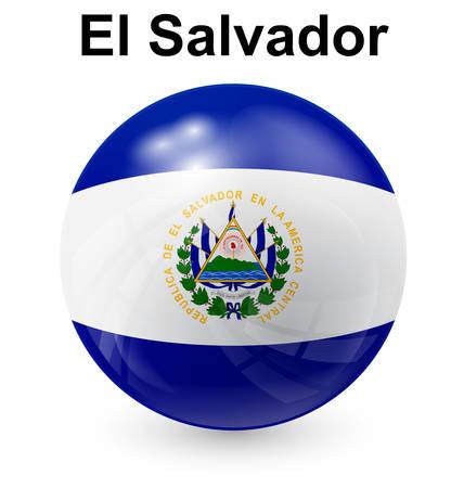 el salvador: el salvador official flag, button ball