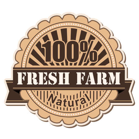 label Fresh Farm; vintage style design